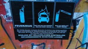 Dangerous Goods (poster in the Danger Zone).