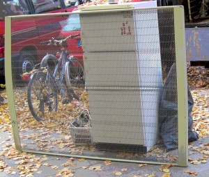 Stuff awaiting transportation on a street in Berlin